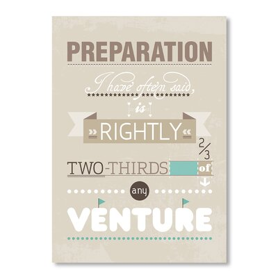 Americanflat Preparation by Patricia Pino Typography on Canvas in Beige