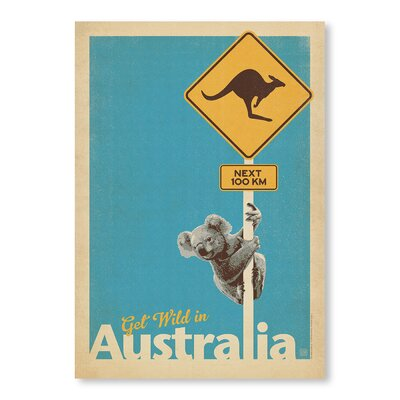 Americanflat Koala by Anderson Design Group Vintage Advertisement in Blue