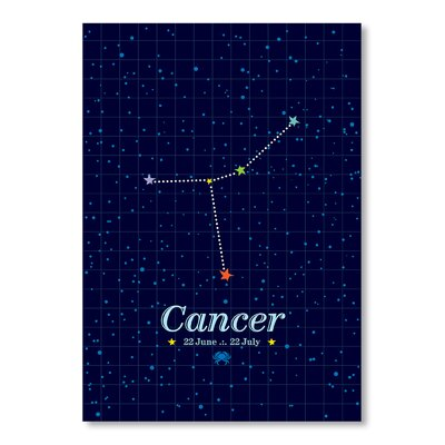 Americanflat Cancer by Patricia Pino Graphic Art in Blue