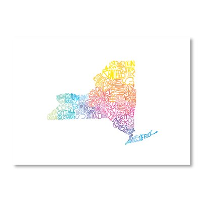 Americanflat New York Spring by Crystal Capritta Typography on Canvas
