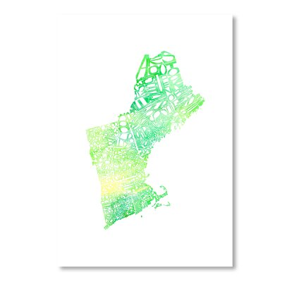 Americanflat New England by Crystal Capritta Typography Wrapped on Canvas