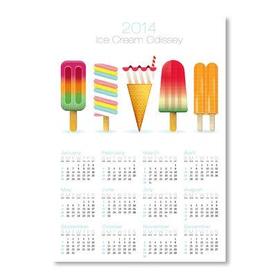 Americanflat Calendar Ice Cream by Patricia Pino Graphic Art