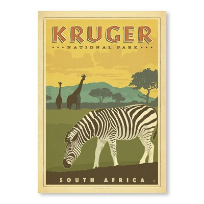 Americanflat Kruger National Park by Anderson Design Group Vintage Advertisement Wrapped on Canvas
