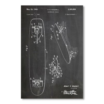 Americanflat Skateboard 1968 by House of Borders Graphic Art
