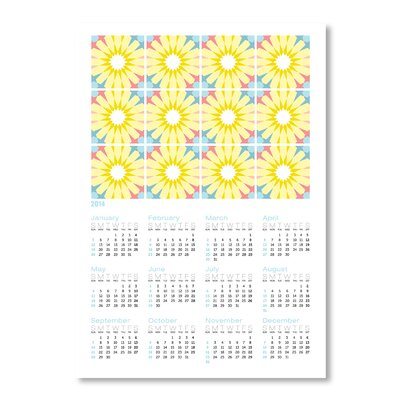 Americanflat Calendar Portuguese Tile II by Patricia Pino Graphic Art in Yellow