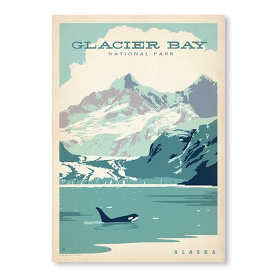 Americanflat Glacier Bay Vintage Advertisement Wrapped on Canvas
