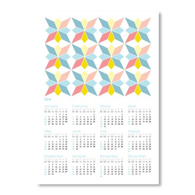 Americanflat Calendar Portuguese Tile III by Patricia Pino Graphic Art