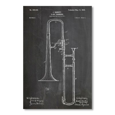 Americanflat Slide Trombone by House of Borders Graphic Art