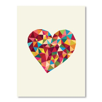 Americanflat Heart Polygon by Brett Wilson Graphic Art Wrapped on Canvas