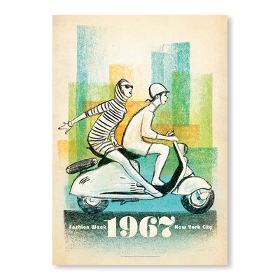 Americanflat 1967 Scooter Girls Wall Vintage Advertisement Wrapped on Canvas