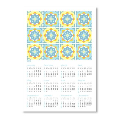 Americanflat Calendar Portuguese Tile IV by Patricia Pino Graphic Art