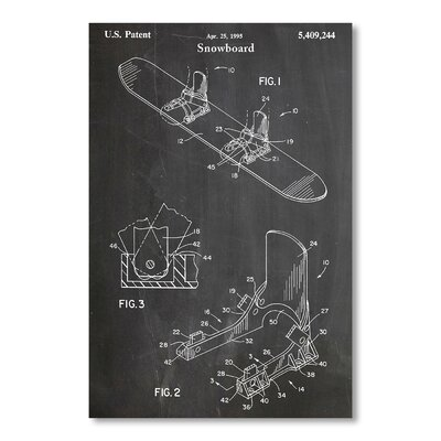 Americanflat Snowboard Modern by House of Borders Graphic Art