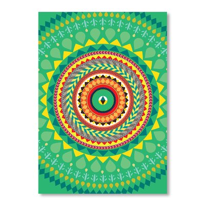 Americanflat Tribal African Pattern by Patricia Pino Graphic Art in Green