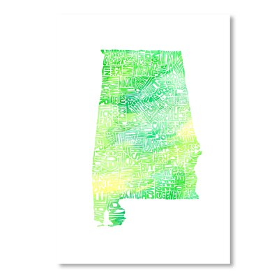 Americanflat Alabama Water by Crystal Capritta Graphic Art in Green