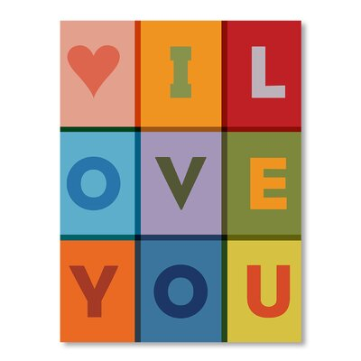 Americanflat I Love You by Brett Wilson Graphic Art on Canvas