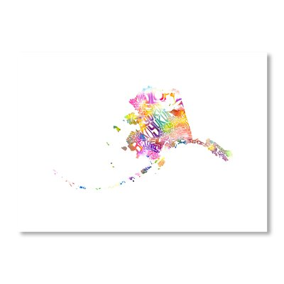 Americanflat Alaska Water by Crystal Capritta Typography Wrapped on Canvas