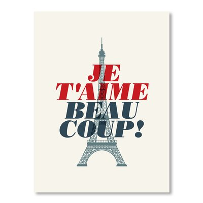 Americanflat Je T'aime by Brett Wilson Graphic Art Wrapped on Canvas