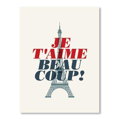 Americanflat Je t'aime by Brett Wilson Typography