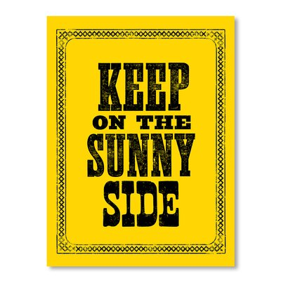 Americanflat Keep on the Sunny Side by Brett Wilson Typography Wrapped on Canvas
