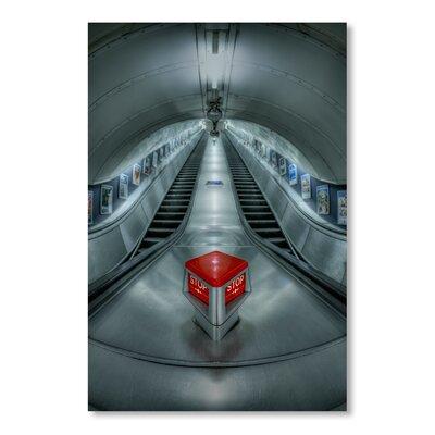 Americanflat Stop Escalator by Lina Kremsdorf Photographic Print in Grey
