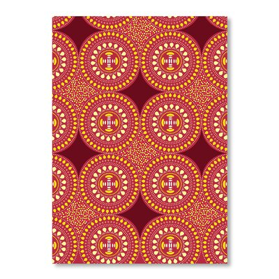 Americanflat Tribal African Pattern by Patricia Pino Graphic Art in Orange