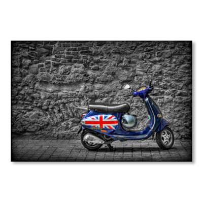 Americanflat Scooter England by Lina Kremsdorf Photographic Print in Grey/Blue