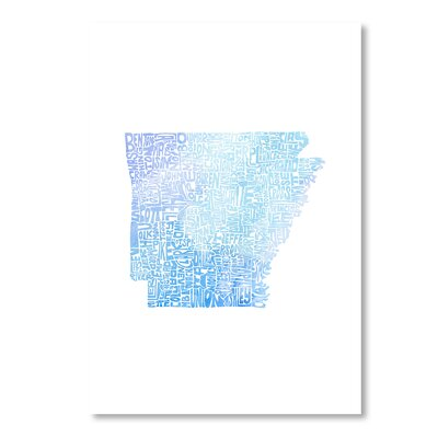 Americanflat Arkansas Water by Crystal Capritta Graphic Art in Blue