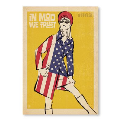 Americanflat In Mod We Trust by Anderson Graphic Art Wrapped on Canvas