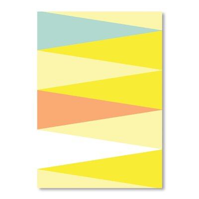 Americanflat Spring Triangle Pattern by Patricia Pino Graphic Art Wrapped on Canvas