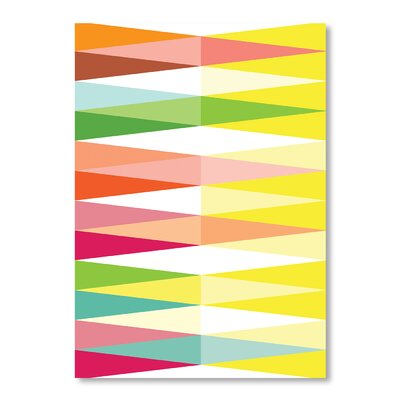 Americanflat Spring Geometric Triangle by Patricia Pino Graphic Art Wrapped on Canvas