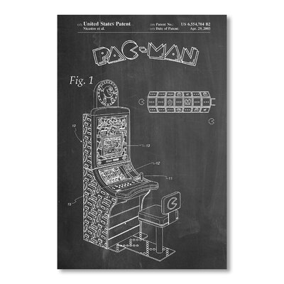 Americanflat Pacman Arcade Game by House of Borders Graphic Art in Grey