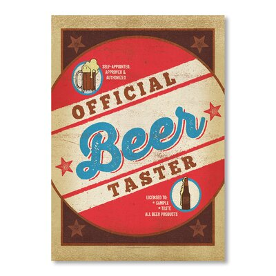 Americanflat Beer Taster Round by Anderson Design Group Vintage Advertisement Wrapped on Canvas