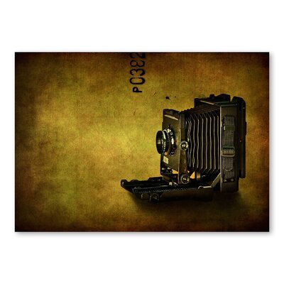Americanflat Camera by Lina Kremsdorf Graphic Art in Gold