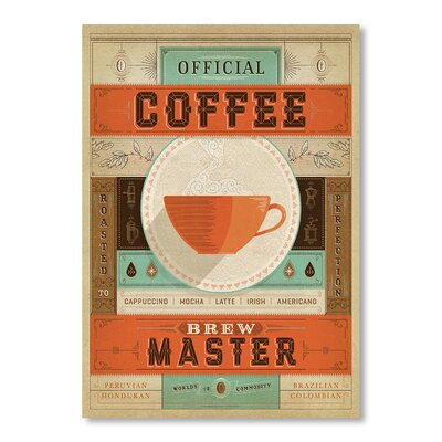 Americanflat Coffee Brew Master by Anderson Design Group Vintage Advertisement Wrapped on Canvas
