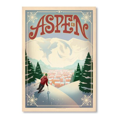 Americanflat Aspen Vintage Advertisement Wrapped on Canvas