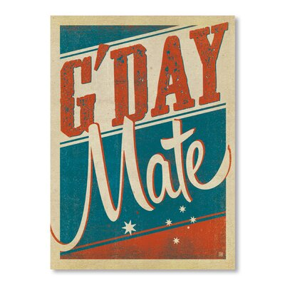 Americanflat G'Day Mate by Anderson Design Group Vintage Advertisement Wrapped on Canvas