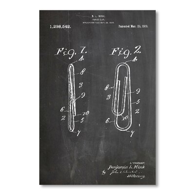Americanflat Paper Clip by House of Borders Graphic Art in Grey