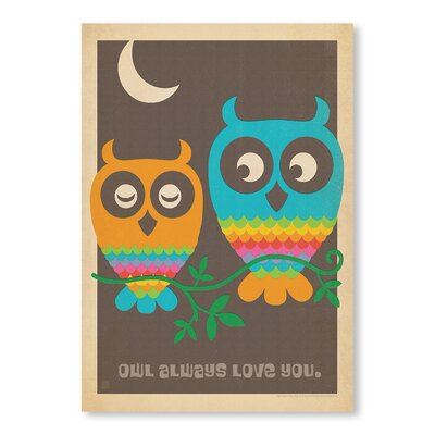 Americanflat Owls by Anderson Design Group Graphic Art