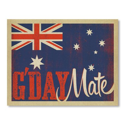 Americanflat G'Day Mate II by Anderson Design Group Group Vintage Advertisement Wrapped on Canvas