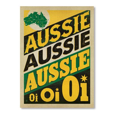 Americanflat Aussie Aussie by Anderson Design Group Typography Wrapped on Canvas