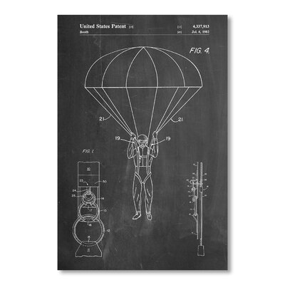 Americanflat Parachute Print by House of Borders Graphic Art in Grey