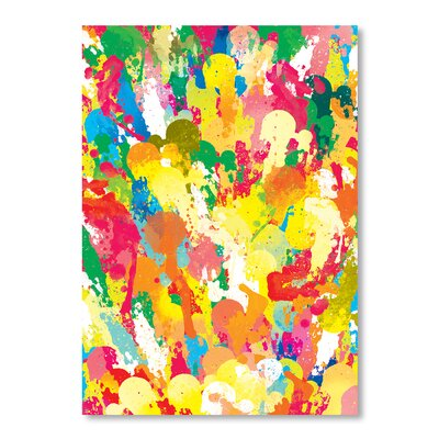 Americanflat Spring Pattern Paintbrush by Patricia Pino Art Print on Canvas
