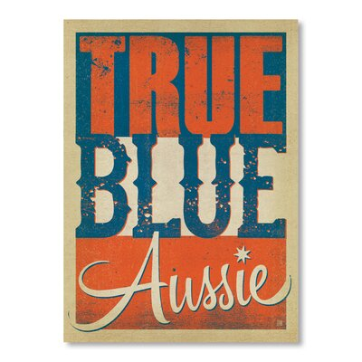 Americanflat True Aussie by Anderson Design Group Typography Wrapped on Canvas