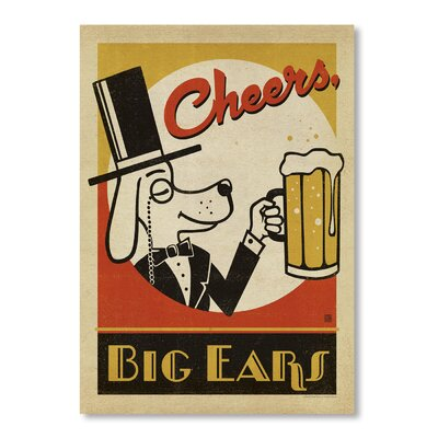 Americanflat Cheers Big Ears by Anderson Vintage Advertisement Wrapped on Canvas