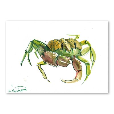Americanflat Crab 2 by Suren Nersisyan Art Print in Green