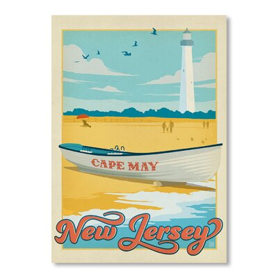 Americanflat Cape May by Anderson Design Group Vintage Advertisement Wrapped on Canvas