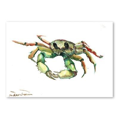 Americanflat Crab by Suren Nersisyan Art Print in Green