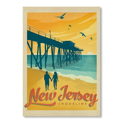 Americanflat Jersey Shore by Anderson Design Group Vintage Advertisement Wrapped on Canvas