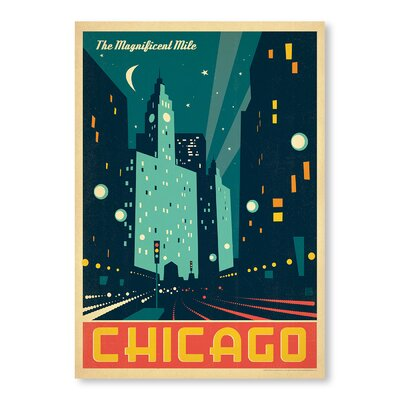 Americanflat Chicago Vintage Advertisement Wrapped on Canvas