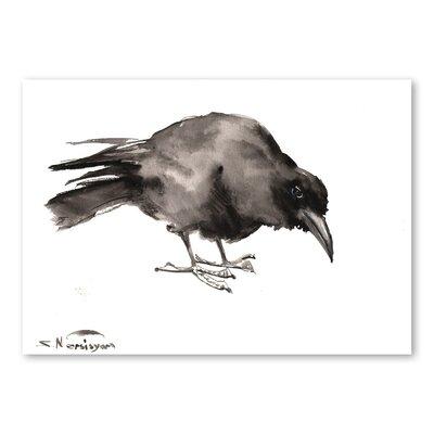 Americanflat Crow 2 by Suren Nersisyan Art Print in Grey